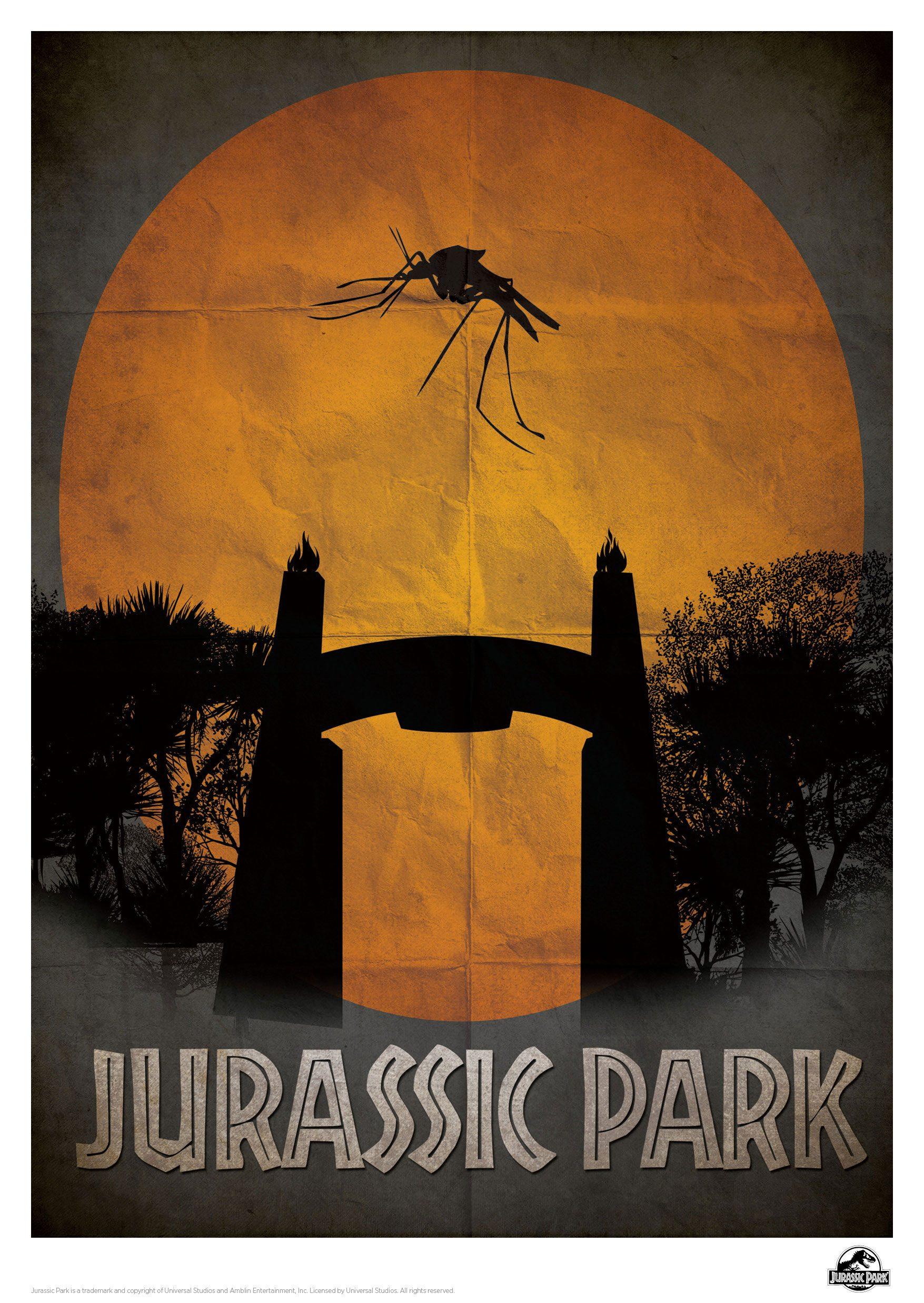 Jurassic Park Art Print Gate 42 x 30 cm
