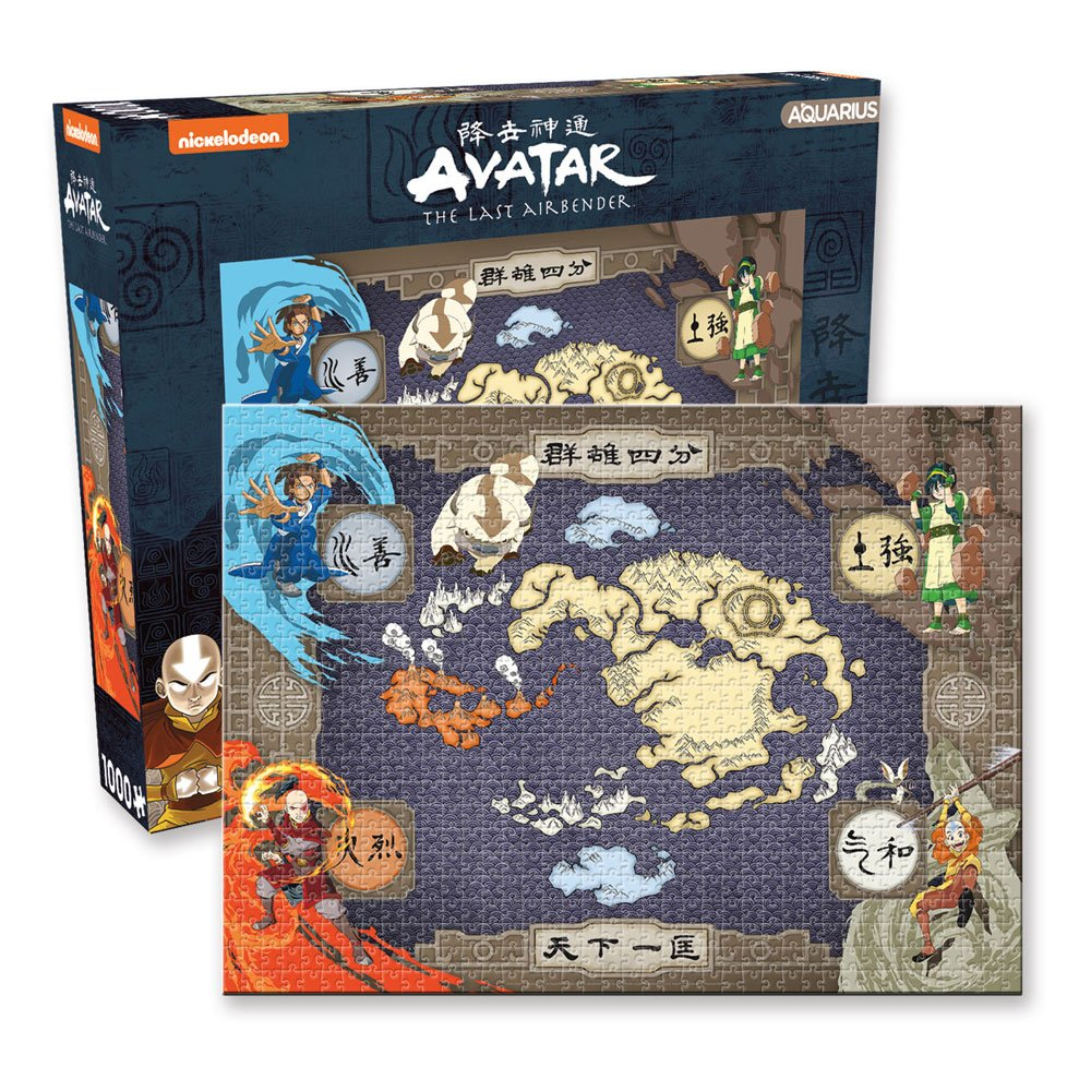 Avatar: The Last Airbender Jigsaw Puzzle Map (1000 pieces)