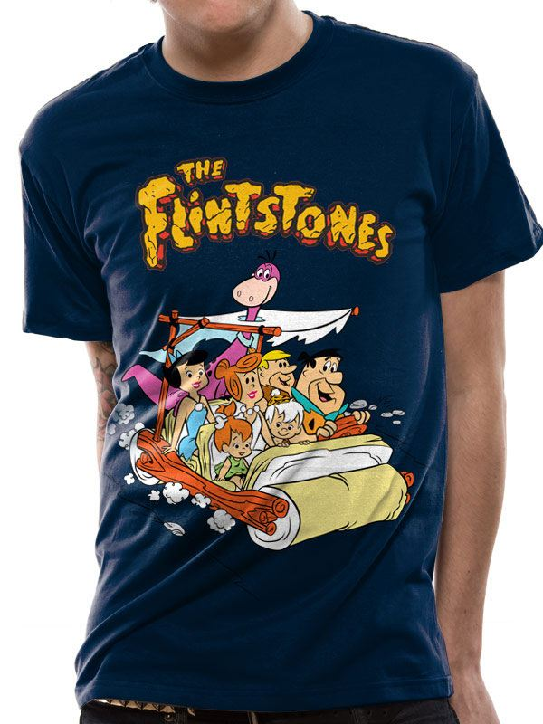 The Flintstones T-Shirt Car Size XL