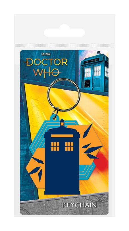 Doctor Who Rubber Keychain Tardis Shapes 6 cm