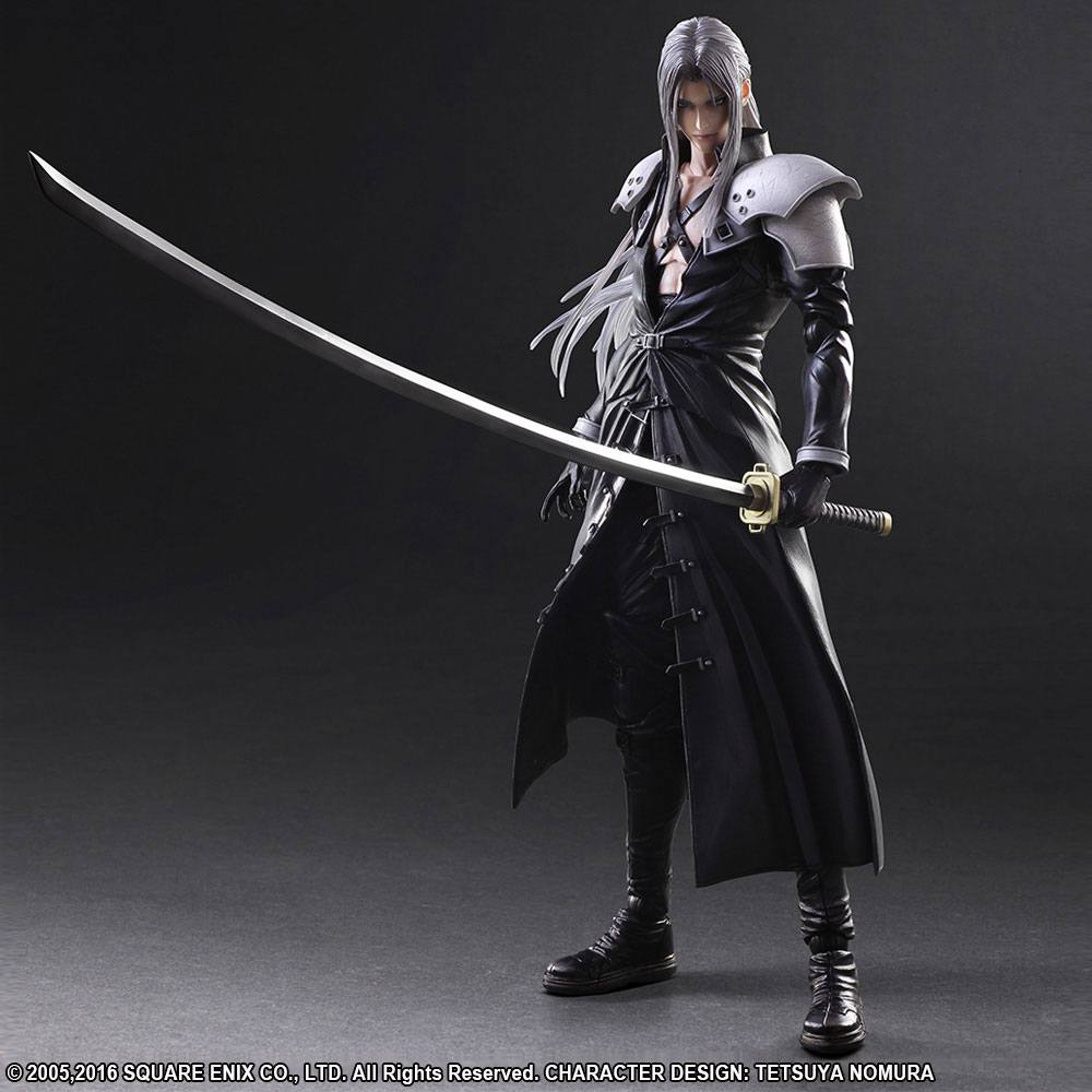 Final Fantasy VII Advent Children Play Arts Kai Action Figure Sephiroth 26 cm --- DAMAGED PACKAGING