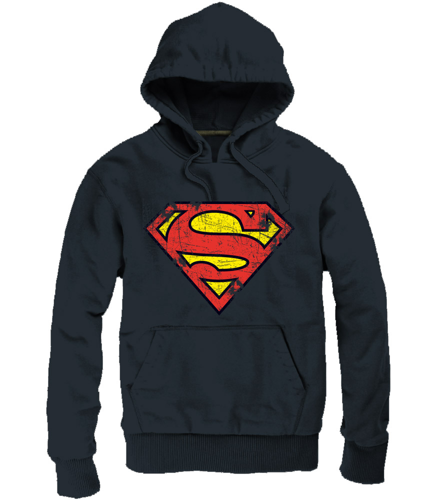 Superman Hooded Sweater Logo black Size M