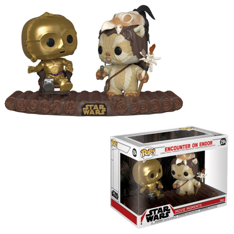 Star Wars POP! Movie Moments Vinyl Bobble-Head 2-Pack C-3PO on Throne 9 cm