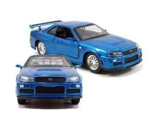 Fast & Furious Diecast Model 1/32 2002 Nissan Skyline GTR R34 *blue*