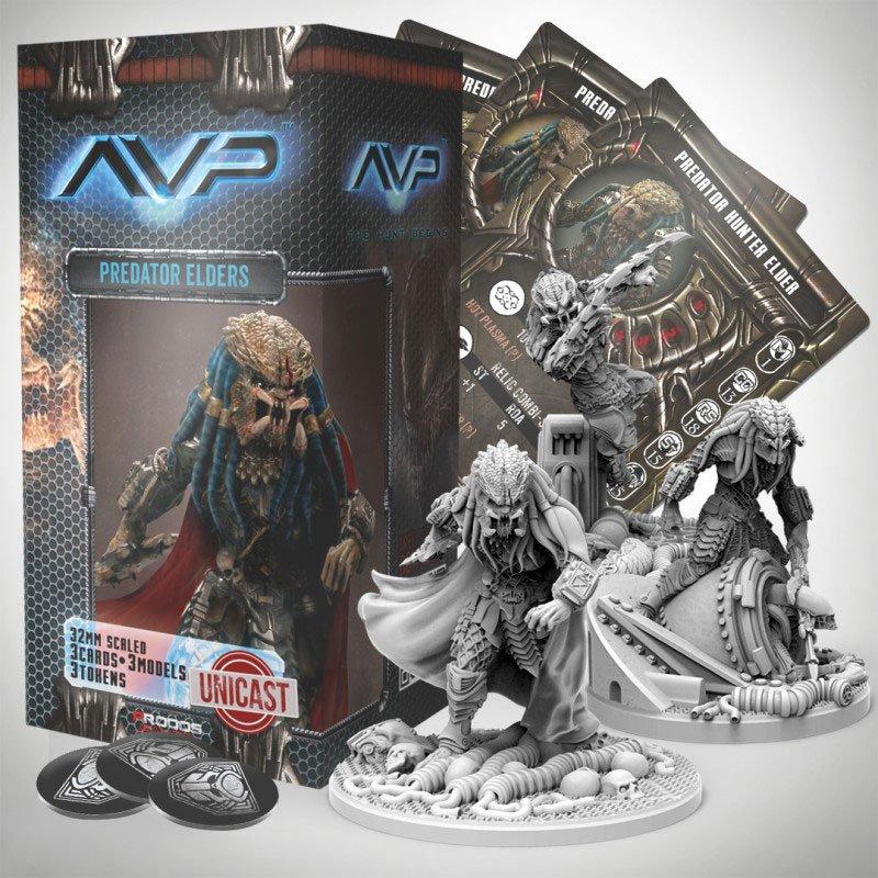 AvP Tabletop Game The Hunt Begins Expansion Pack Predator Elders