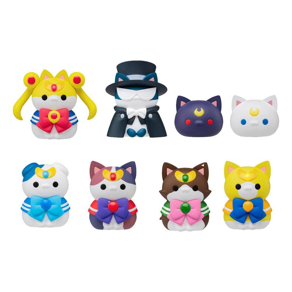 Sailor Moon Mega Cat Project Trading Figure 3 cm Sailor Mewn Assortment (8)
