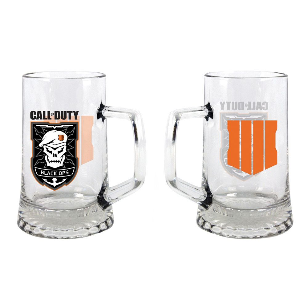 Call of Duty Black Ops 4 Beer Pint Glass Patch
