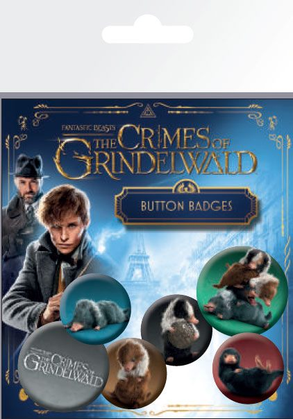 Fantastic Beasts 2 Pin Badges 6-Pack Nifflers