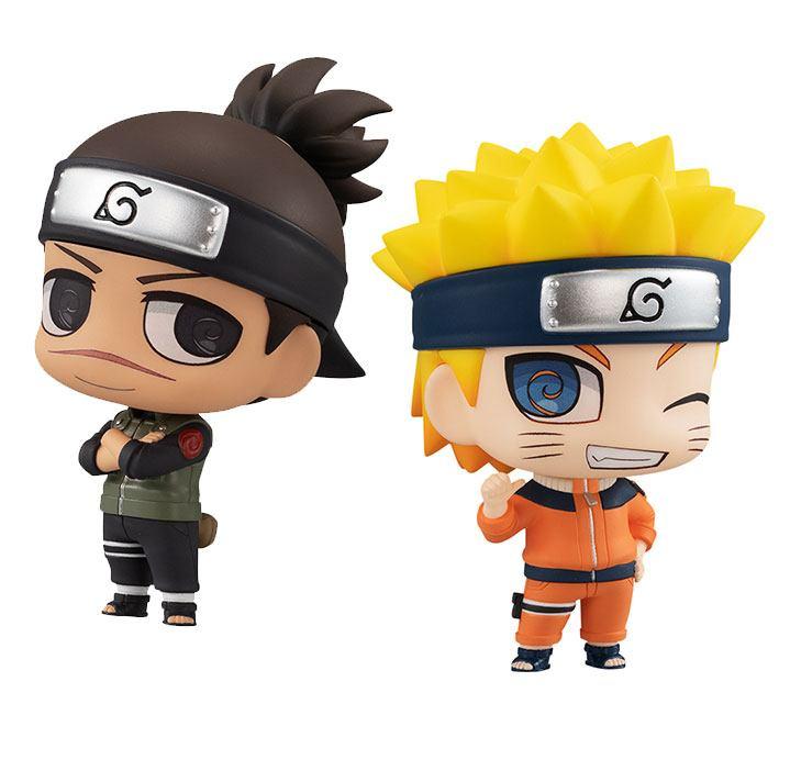 Naruto Chimimega Buddy Series Figure 2-Pack Umino Iruka & Uzumaki Naruto Set 7 cm