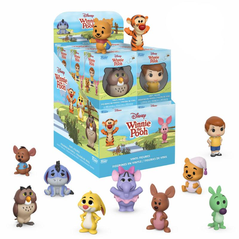 Winnie the Pooh Mini Vinyl Figures 6 cm Display (12)