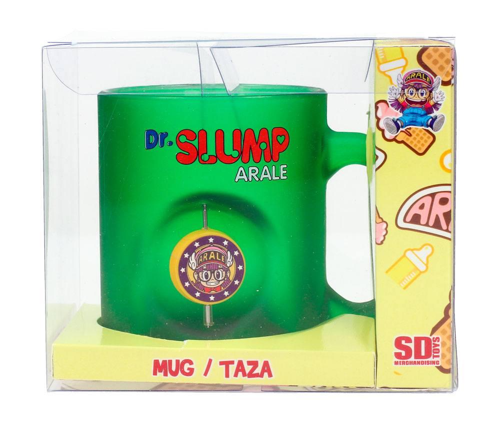 Dr. Slump 3D Rotating Emblem Mug Arale