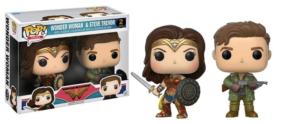 Wonder Woman Movie POP! Movies Vinyl Figures 2-Pack Wonder Woman & Steve Trevor 9 cm