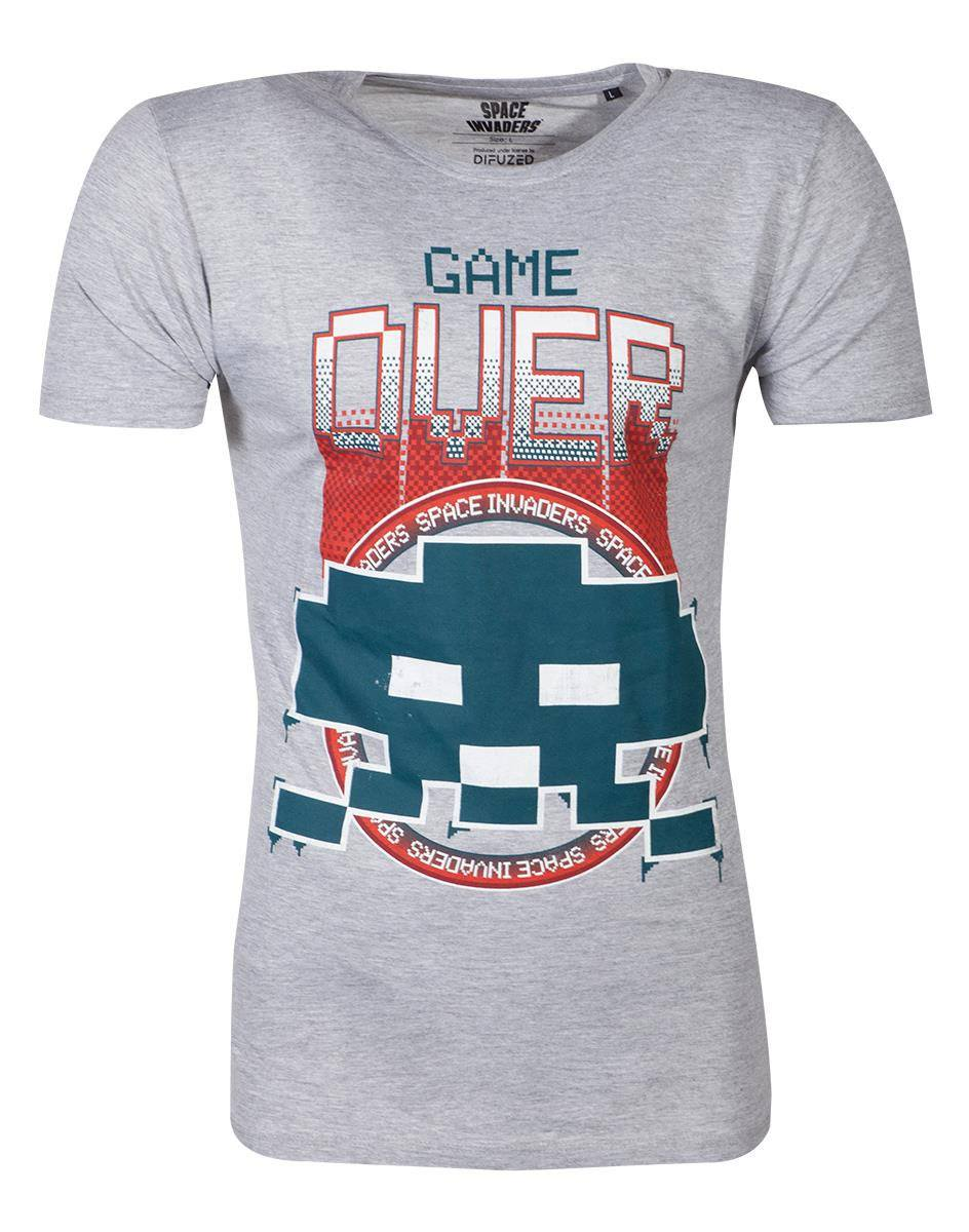 Space Invaders T-Shirt Game Over Size L