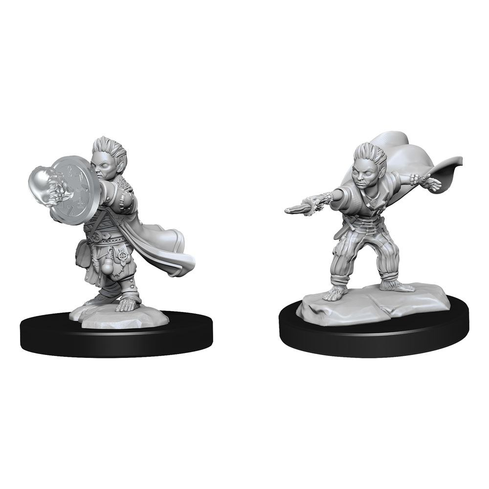 Pathfinder Battles Deep Cuts Unpainted Miniatures Halfling Wizard Male Case (6)
