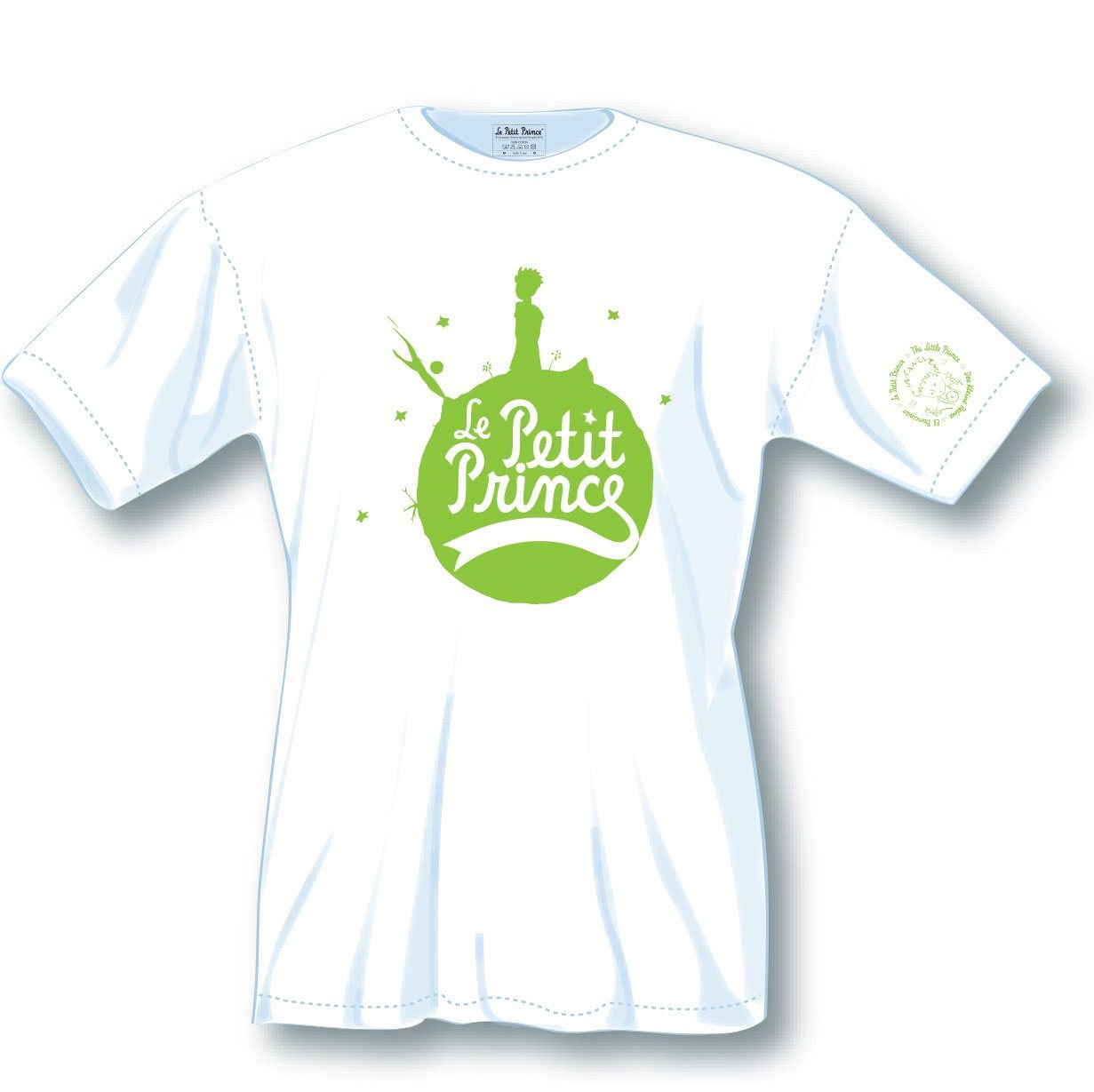 The Little Prince Ladies T-Shirt Green Logo Size M