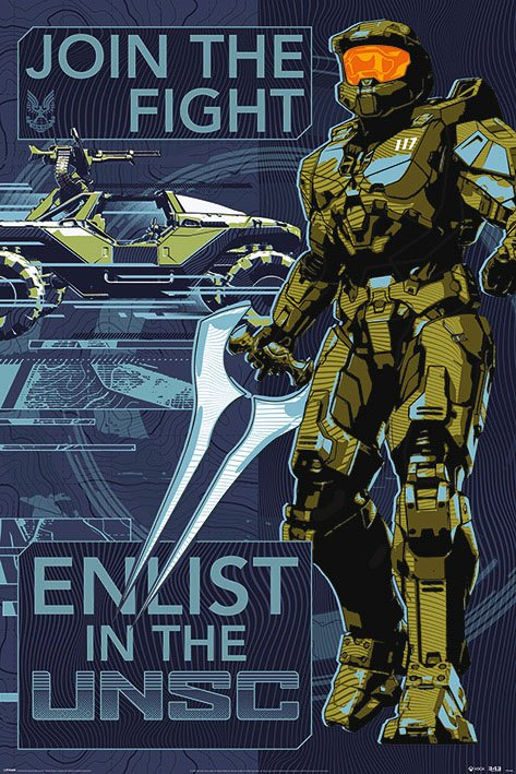 Halo Infinite Poster Pack Join the Fight 61 x 91 cm (5)