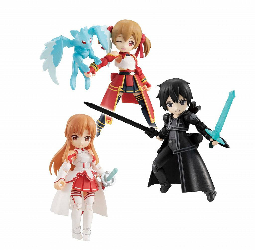 Sword Art Online Desktop Army Figures 8 cm Assortment Asuna & Kirito & Shirika (3)