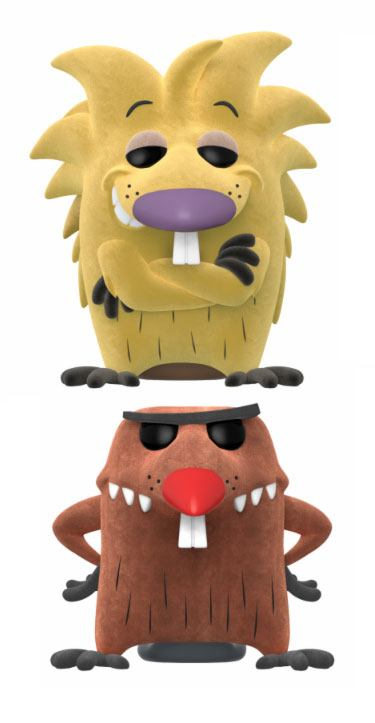 The Angry Beavers POP! Animation Vinyl Figures 2 Pack Norbert & Daggett Flocked 9 cm