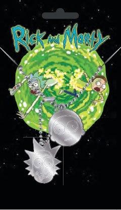 Rick and Morty Dog Tags with ball chain Rick & Morty