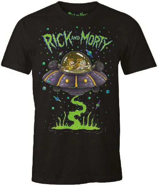 Rick and Morty T-Shirt Space Cruiser Size XL