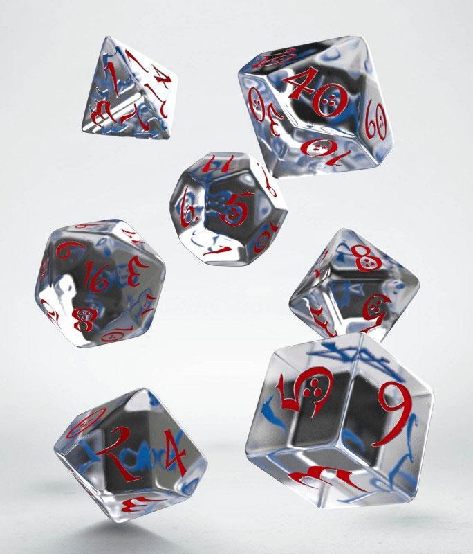 Classic RPG Dice Set translucent & blue-red (7)