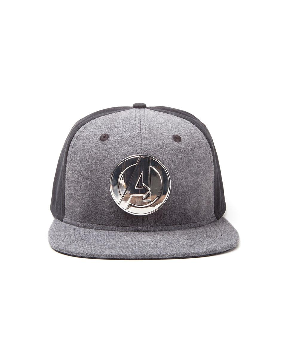 Avengers Snap Back Baseball Cap Metal Logo