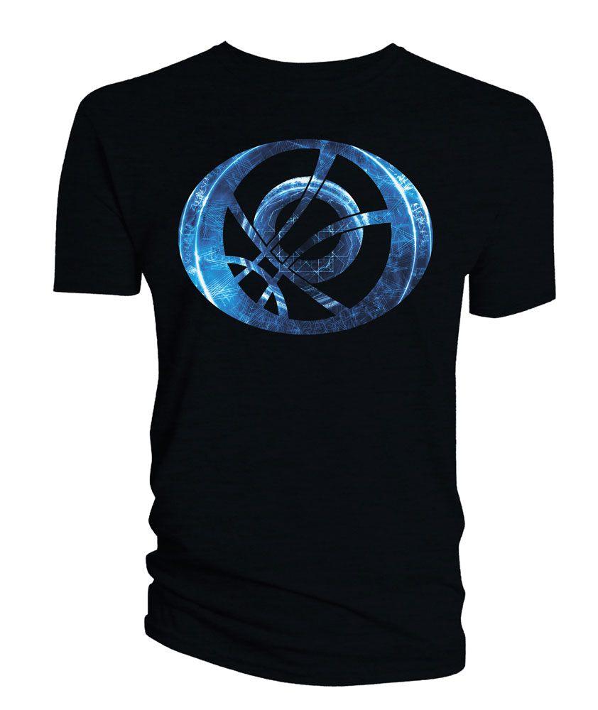 Doctor Strange T-Shirt Blue Symbol Oblong black Size S
