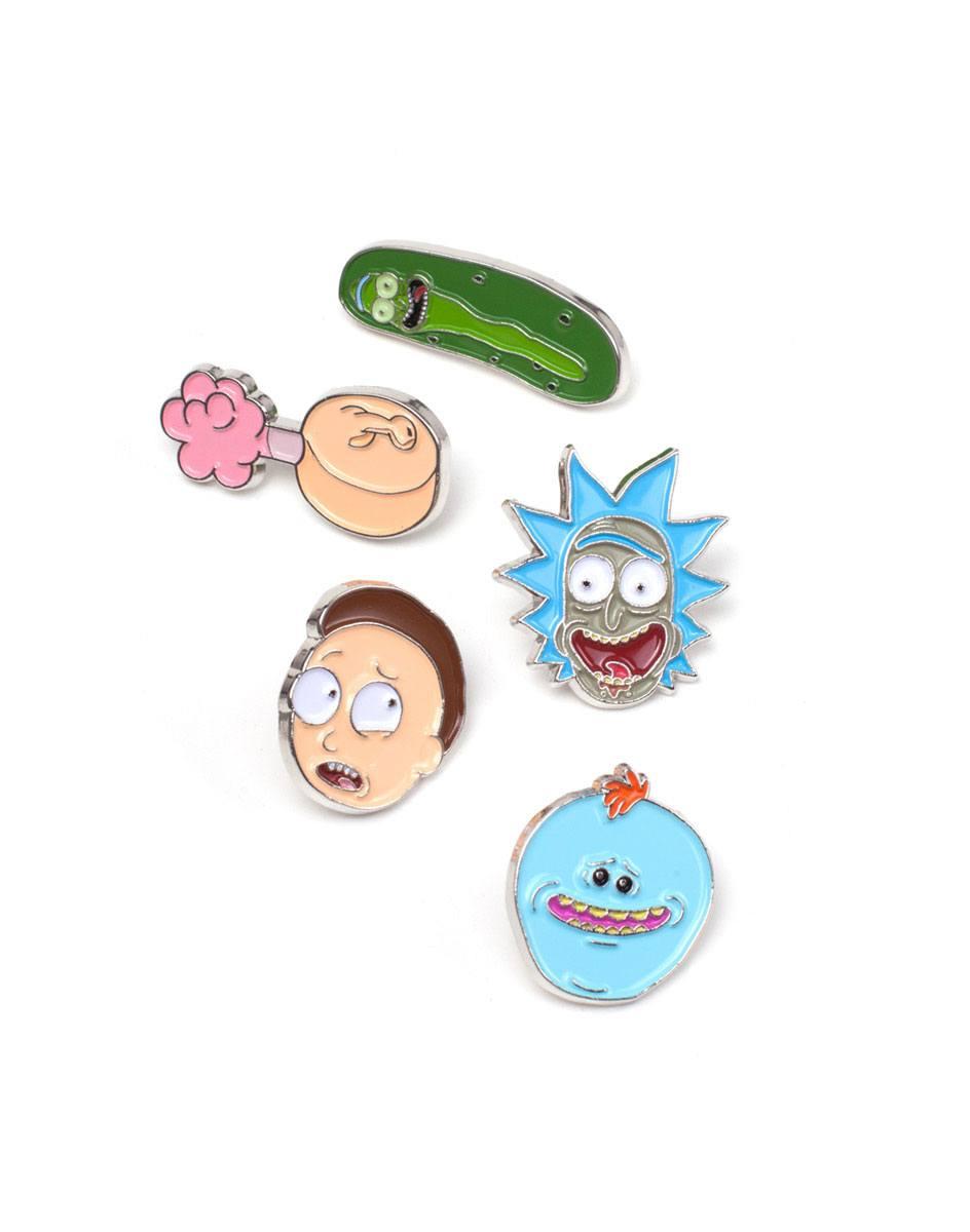Rick and Morty Pin Set 5-Pack Characters
