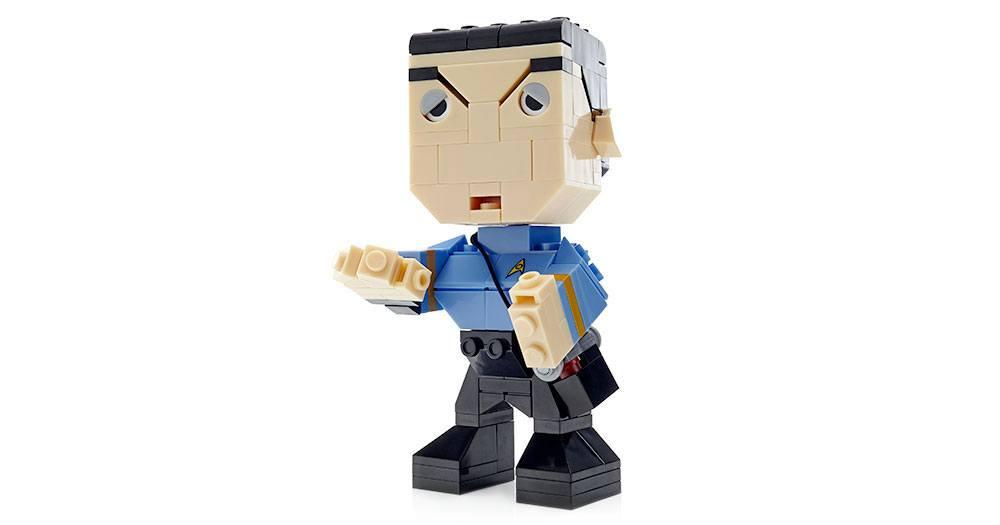 Star Trek Mega Construx Kubros Construction Set Spock 14 cm