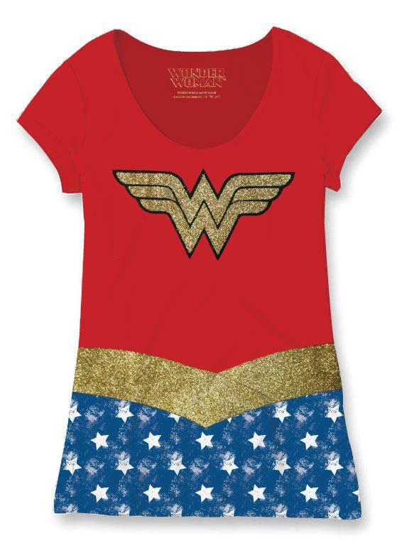 Wonder Woman Ladies Sublimation T-Shirt Costume Size S