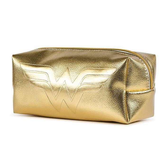 Wonder Woman Pencil Case Golden Shimmer