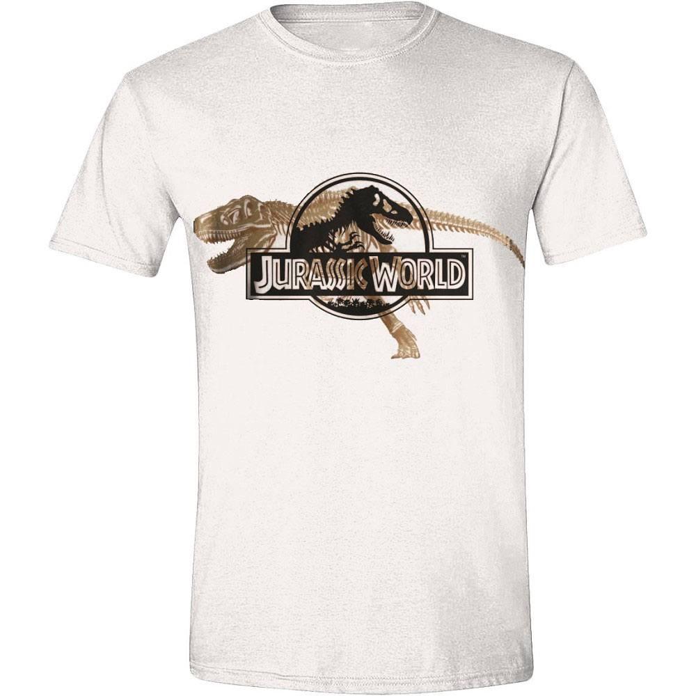 Jurassic World T-Shirt T-Rex Skeleton Size M