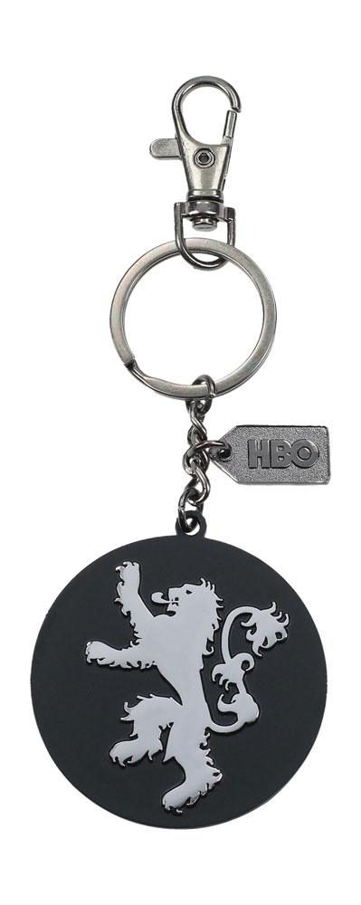 Game of Thrones Metal Keychain Lannister Silver Logo