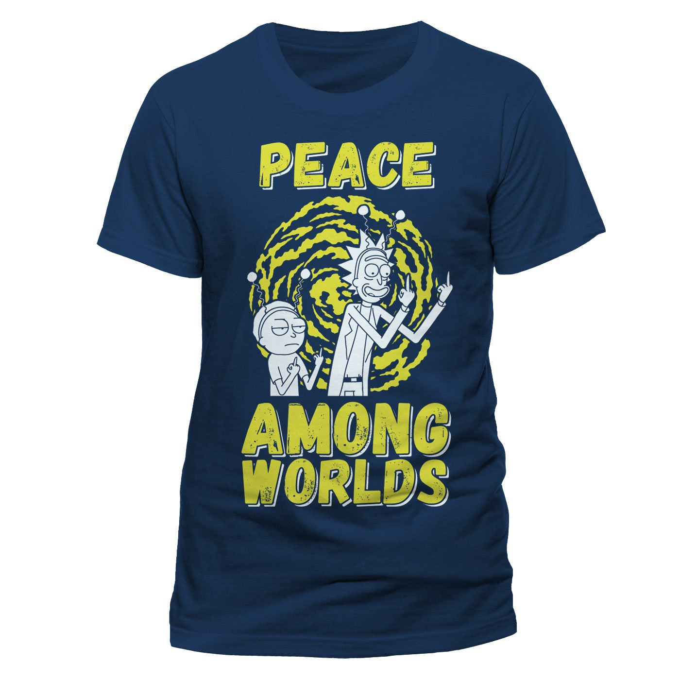 Rick and Morty T-Shirt Peace Among Worlds Size S