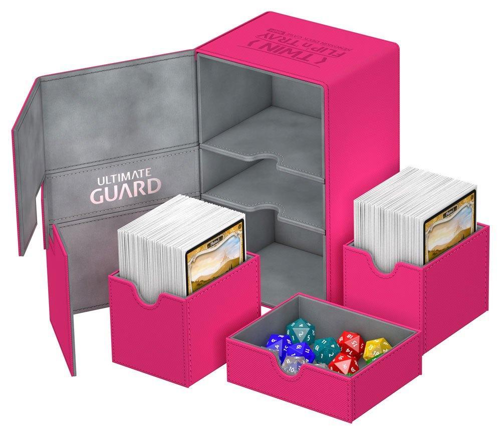 Ultimate Guard Twin Flip´n´Tray  Deck Case 160+ Standard Size XenoSkin™ Pink