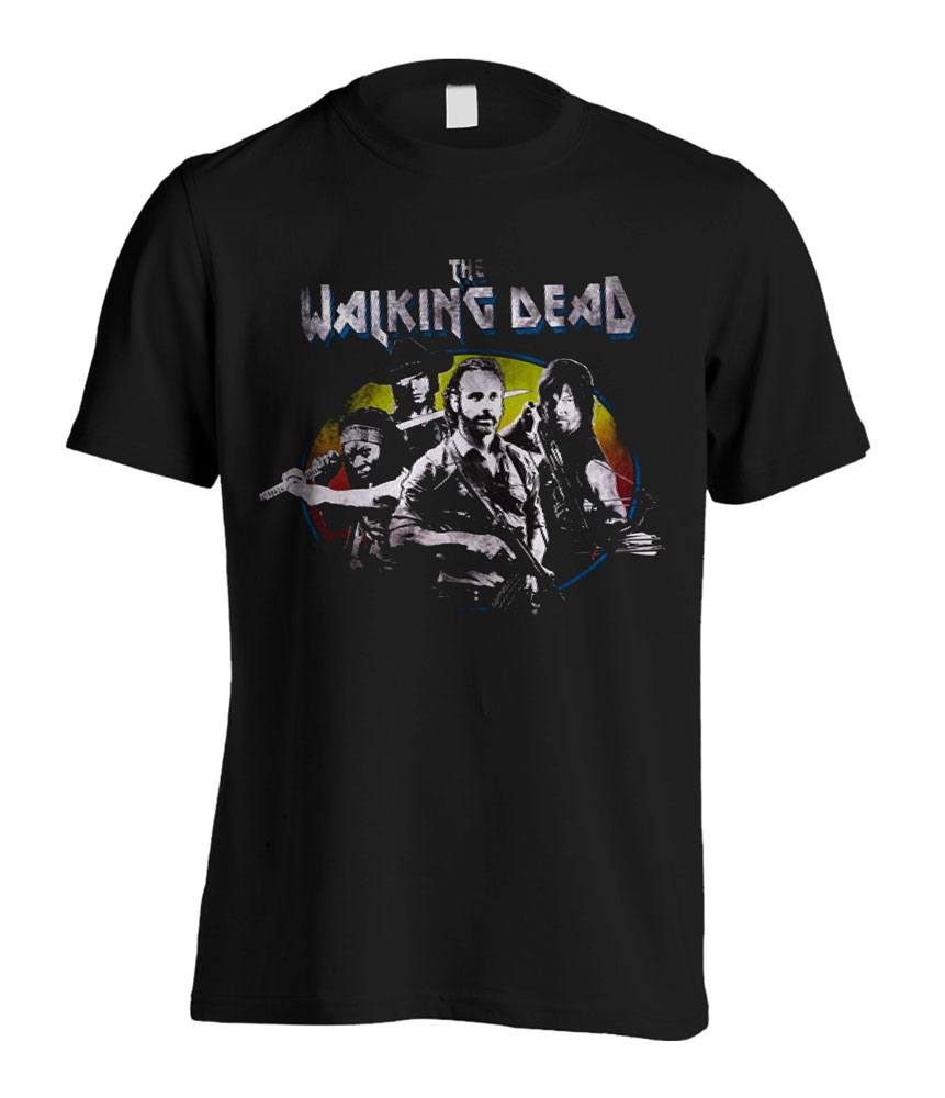 Walking Dead T-Shirt Character Group Shot  Size L