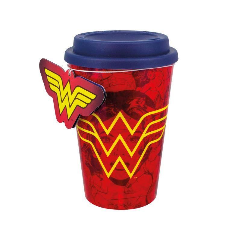 Wonder Woman Travel Mug Red Wonder Woman