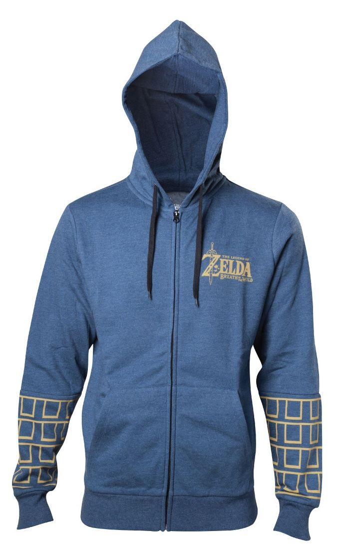 The Legend of Zelda Breath of the Wild Hooded Zip Sweater Logo Size XL