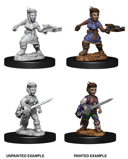 Pathfinder Battles Deep Cuts Unpainted Miniatures Female Halfling Rogue Case (6)