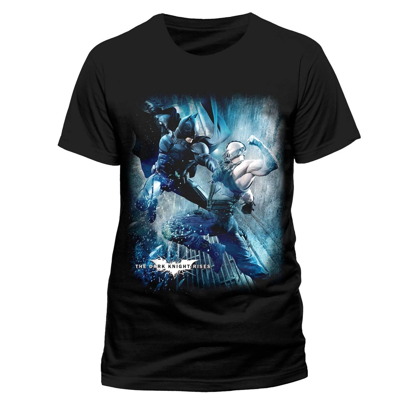 Batman The Dark Knight T-Shirt Bane VS Batman Size XL