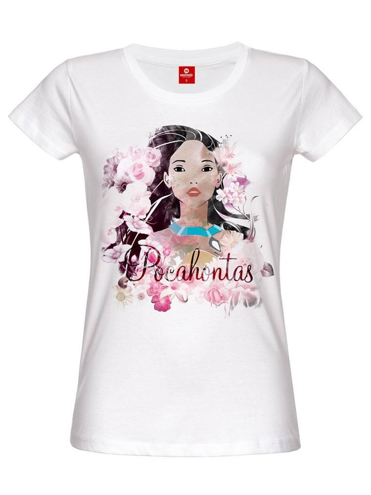 Pocahontas Ladies T-Shirt Indian Flower Size M