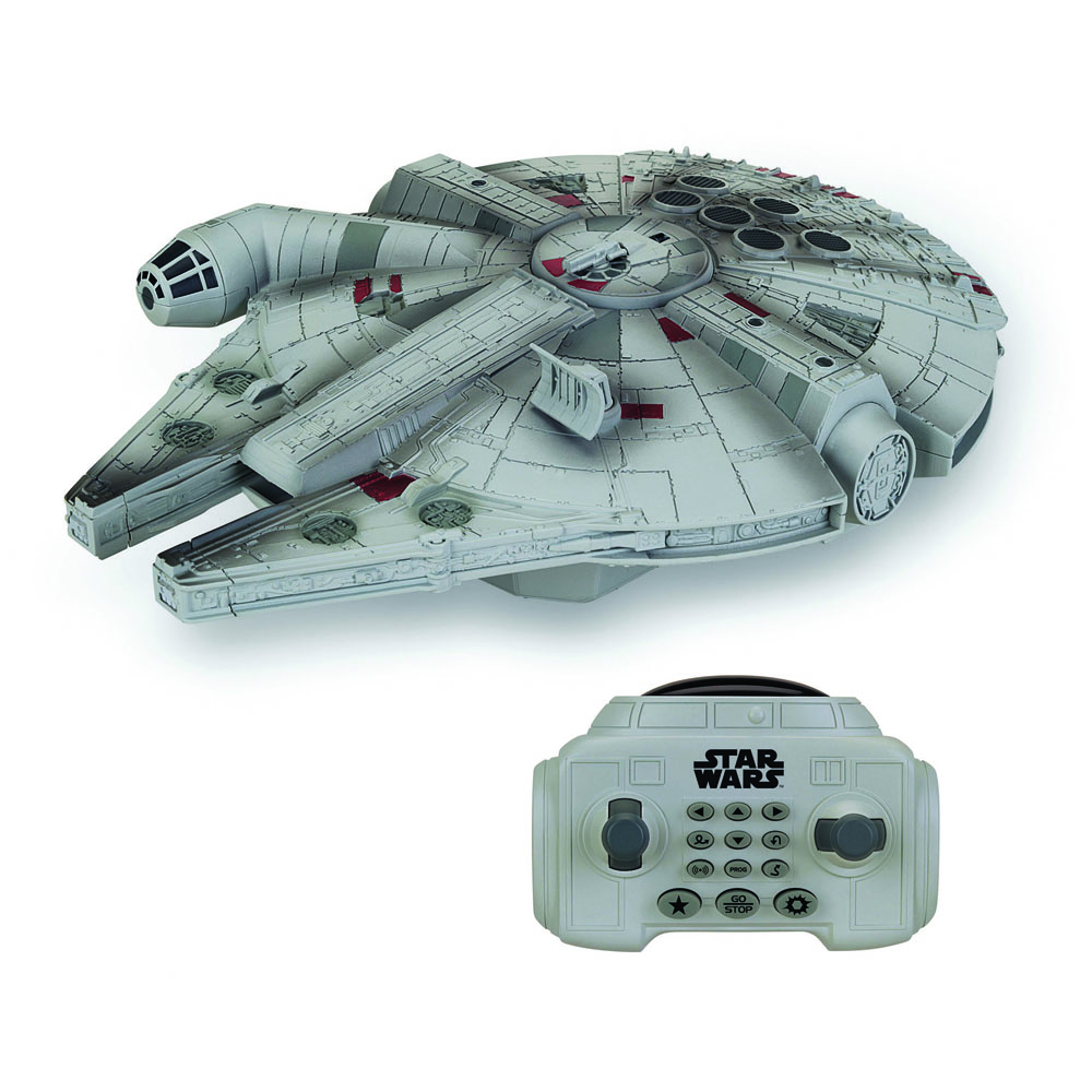 Star Wars Episode VII RC Vehicle with Sound & Light Up U-Command Millenium Falcon 30 cm --- DAMAGED