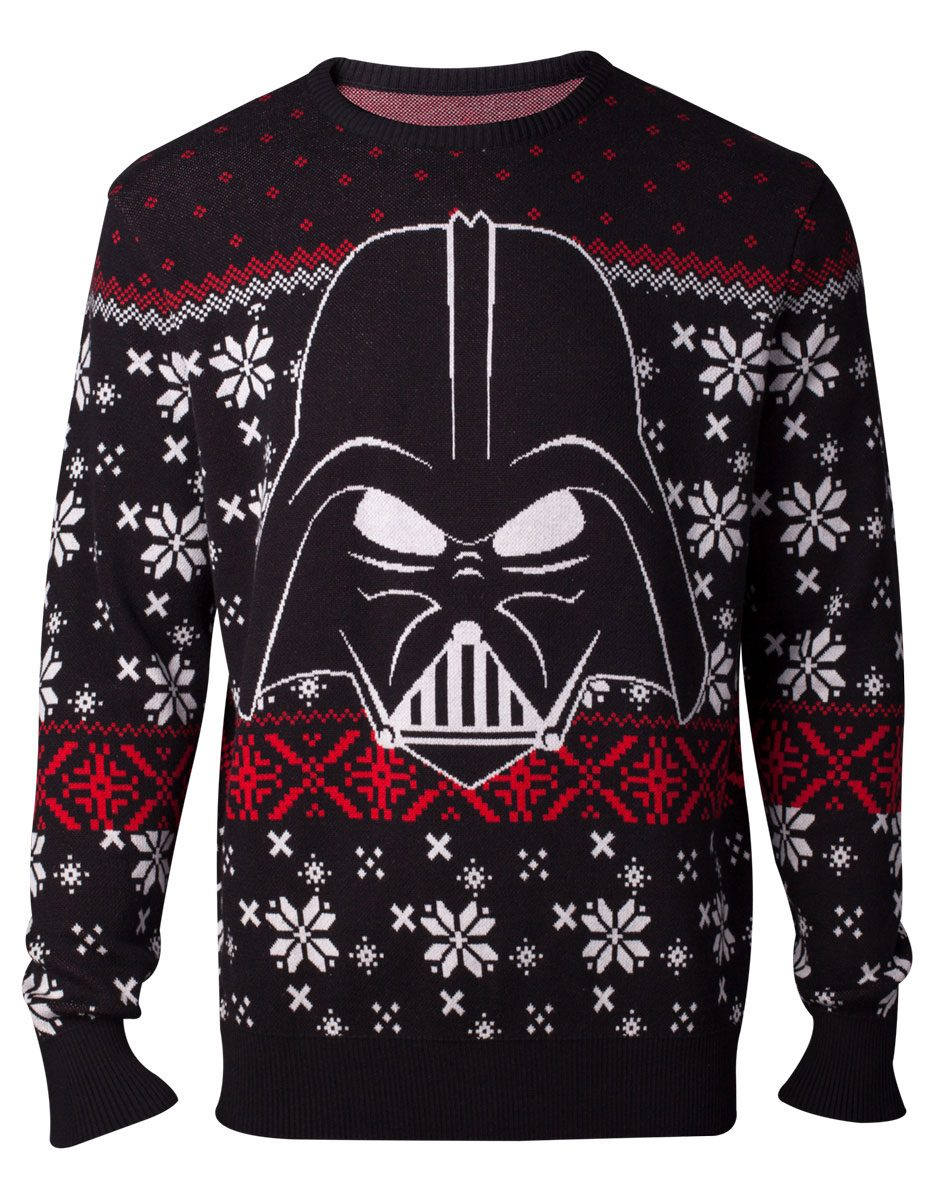 Star Wars Knitted Christmas Sweater Darth Vader Size L