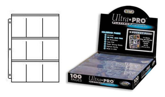 Ultra Pro 9 Pocket Pages Platinum Series (100)
