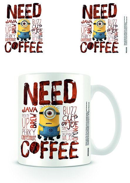 Despicable Me Mug Need Coffee