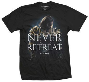 Warcraft T-Shirt Never Retreat Size L