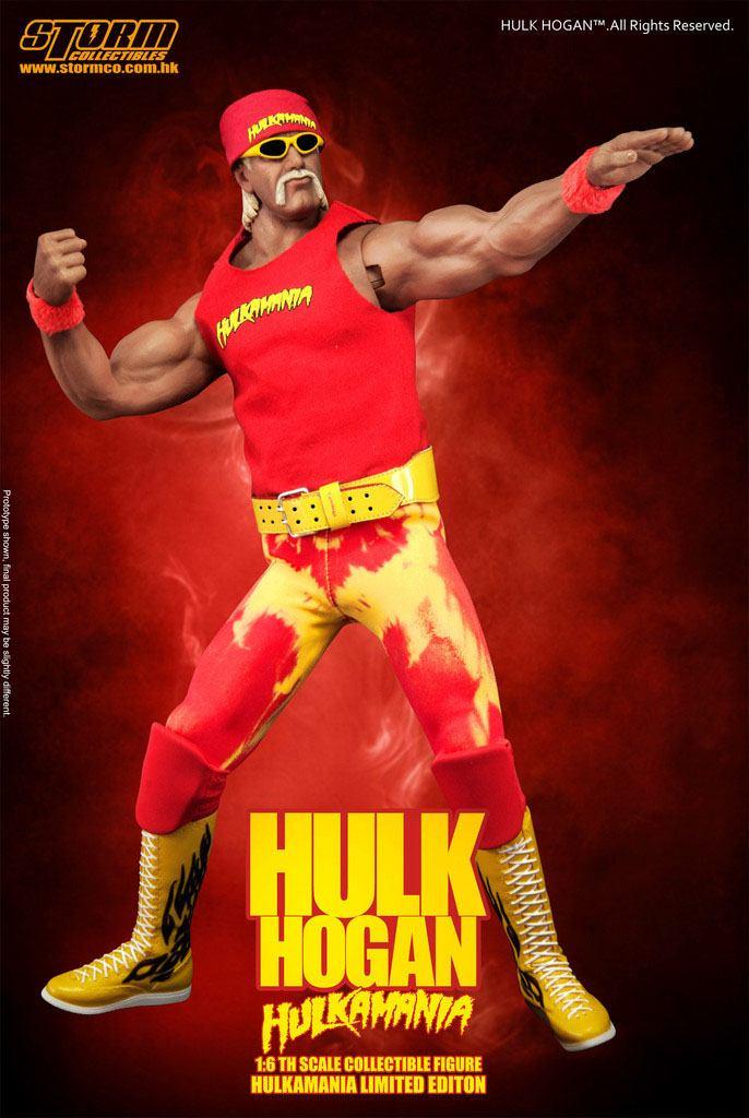 WWE Wrestling Action Figure 1/6 Hulk Hogan Hulkamania 33 cm