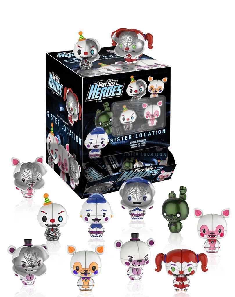 Five Nights at Freddy's Sister Location Pint Size Heroes Mini Figures 6 cm Display (24)