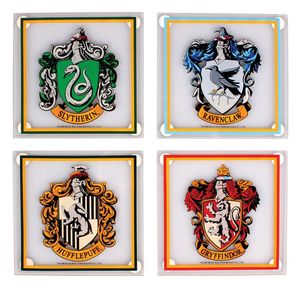 Harry Potter Glass Coaster 4-Pack All Houses