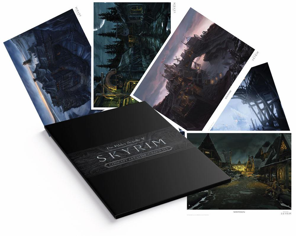 The Elder Scrolls Lithograph 5-Set 35 x 28 cm
